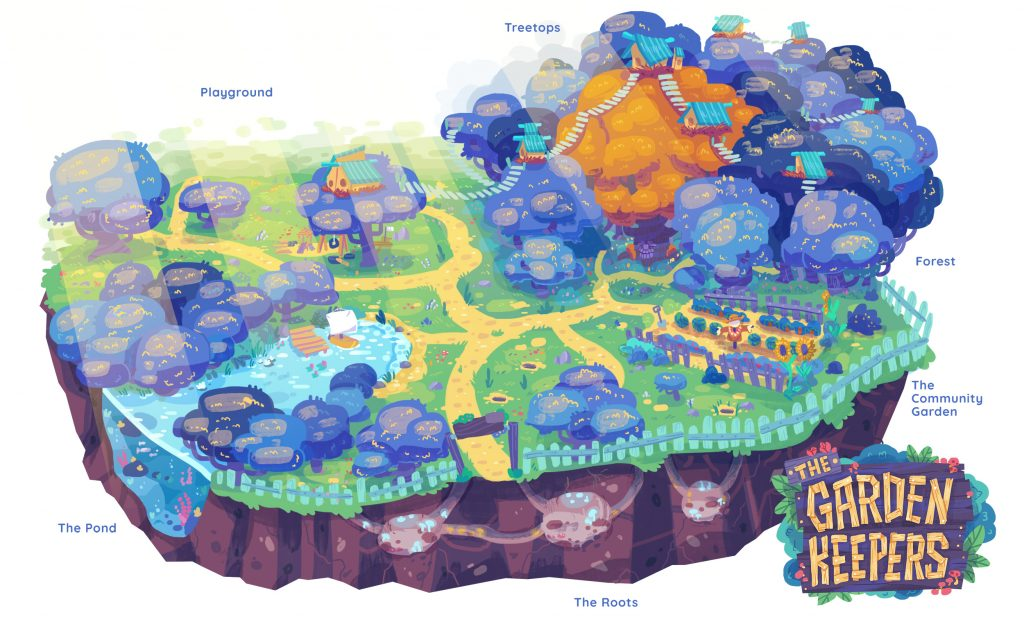 מפת העולם של שומרי הגינה